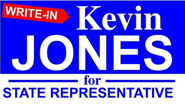 Democrat Kevin Jones is a write-in candidate for Pennsylvania State Representative